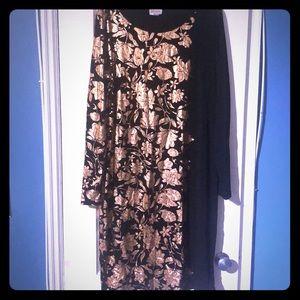 Lularoe black & rose gold Debbie XL